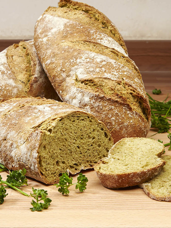ORGANIC WHOLEMEAL SPRING HERBS LOAF         ( SEASONAL)